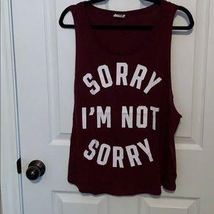 PINK Victoria's Secret Sorry I'm not sorry tank